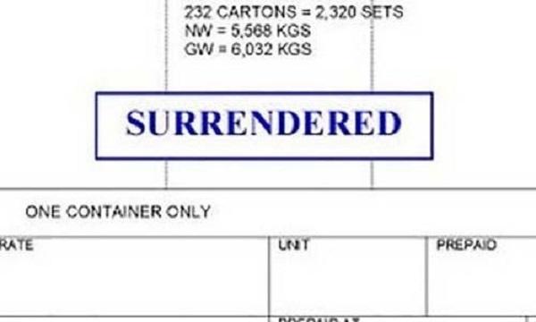 Surrendered bill of lading là gì? Khi nào sử dụng vận đơn này