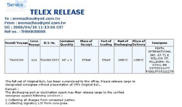 Telex release là gì? Vai trò của nó trong giao nhận hàng hóa